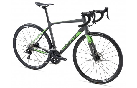 Giant Contend SL 1 Disc H M 22V Racefietsen matt charcoal//neon green